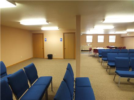 A great space for meetings of all kinds.  Restrooms and flexible space.
